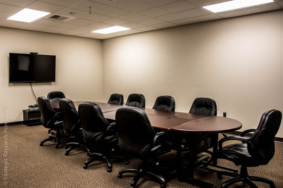 Strategic Research Associates Spokane Facility Focus Group Room with Television