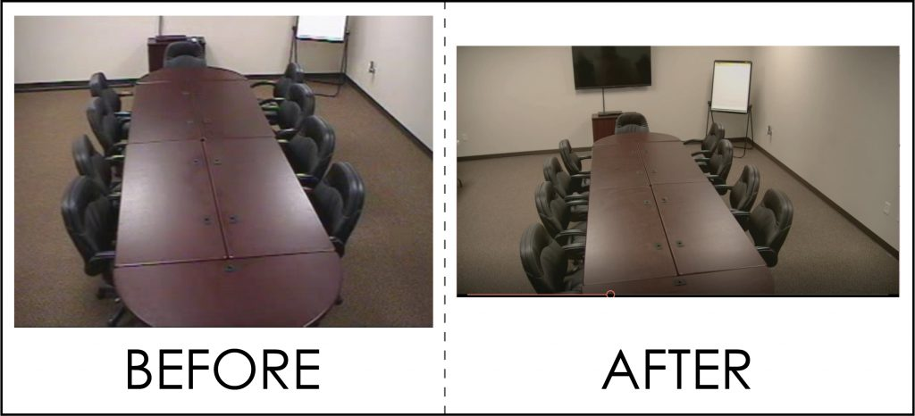 Side by Side comparison of Strategic Research Associates Spokane Focus Group room Standard and HD video
